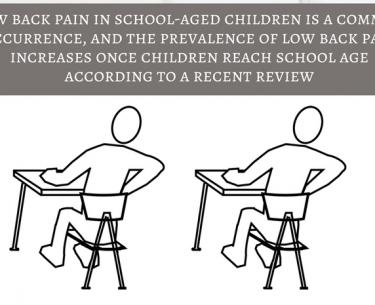 Χαμηλός πόνος στην πλάτη στα παιδιά σχολικής ηλικίας