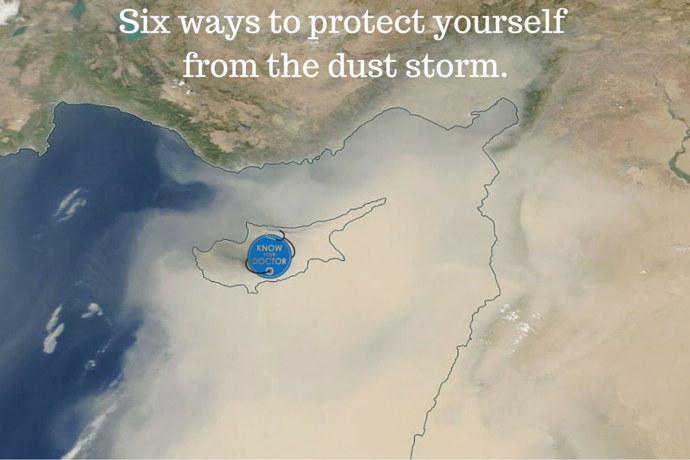 Middle East dust storm.
