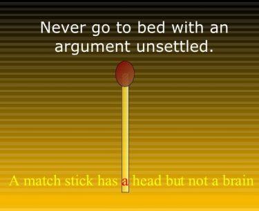 Ποτέ μην κοιμάστε σε ένα επιχείρημα