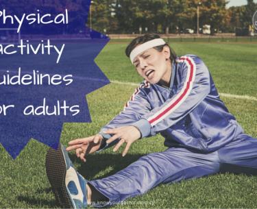Κατευθυντήριες γραμμές για τη σωματική δραστηριότητα